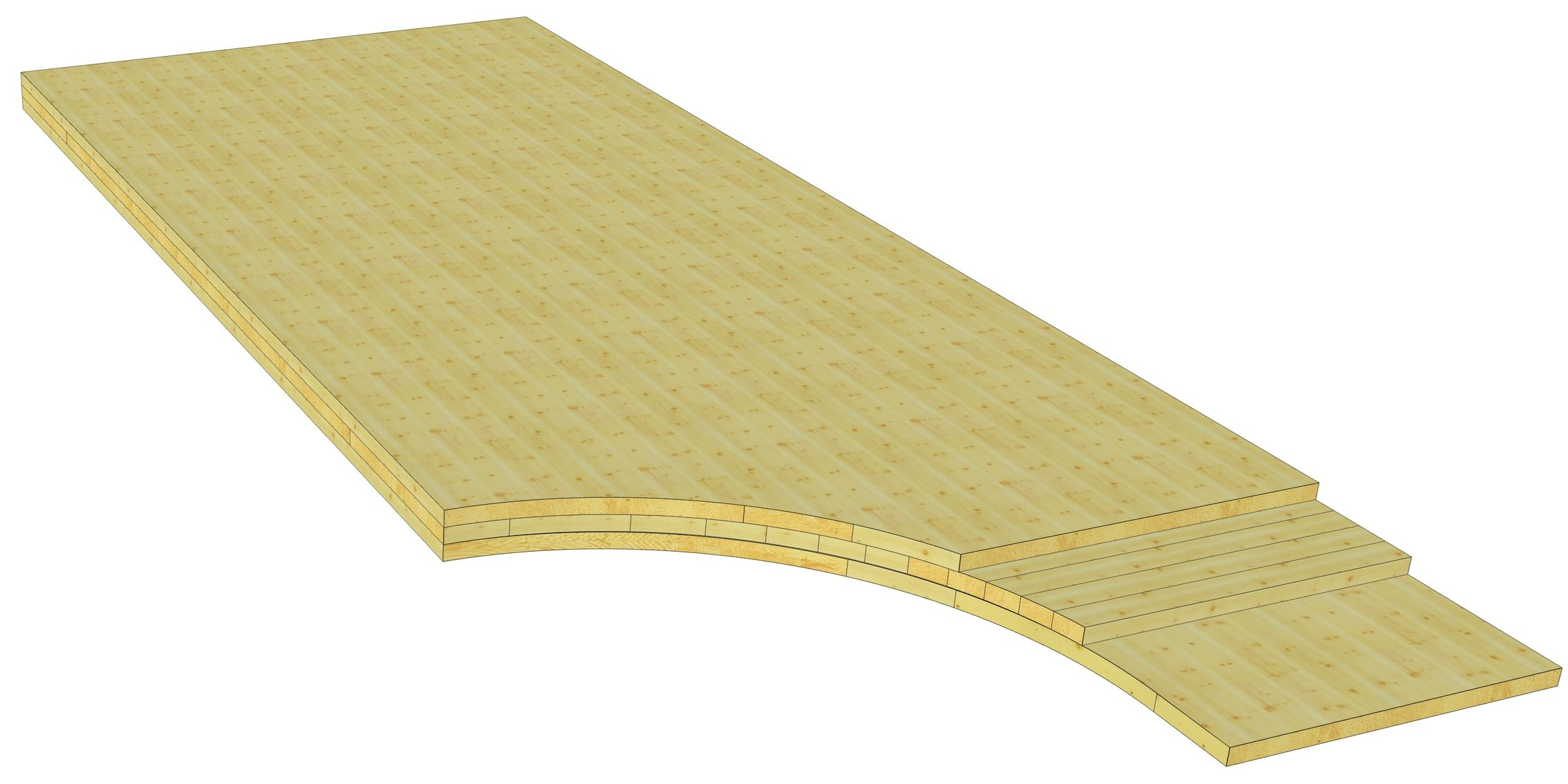 Cross laminated timber CLT